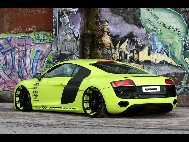 2012 XXX Performance Audi R8 V10 : unbelievable design, mature, finished in every detail as Apple products, manly, robust, slick and in unusual tropic frog green but still uncorny color