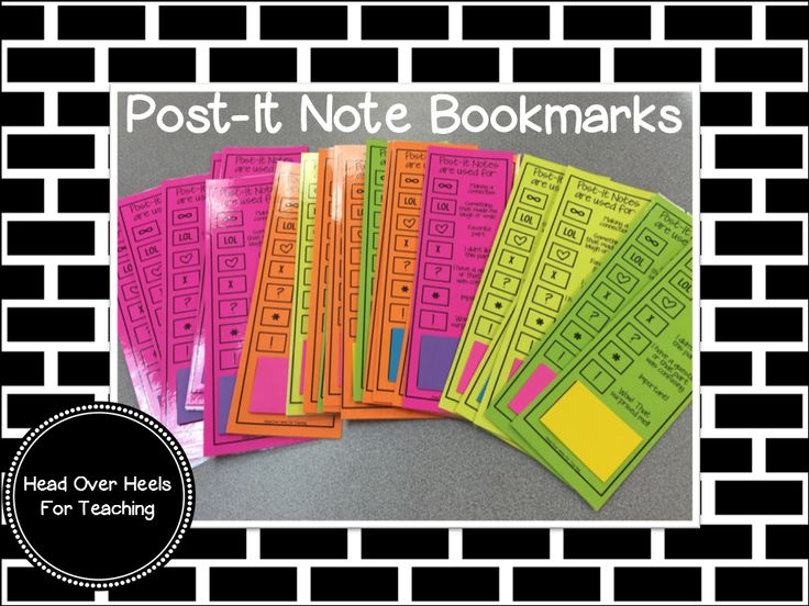 Post-It Note Bookmark for annotating while reading - freebie included, just at post it notes at the bottom for the students.