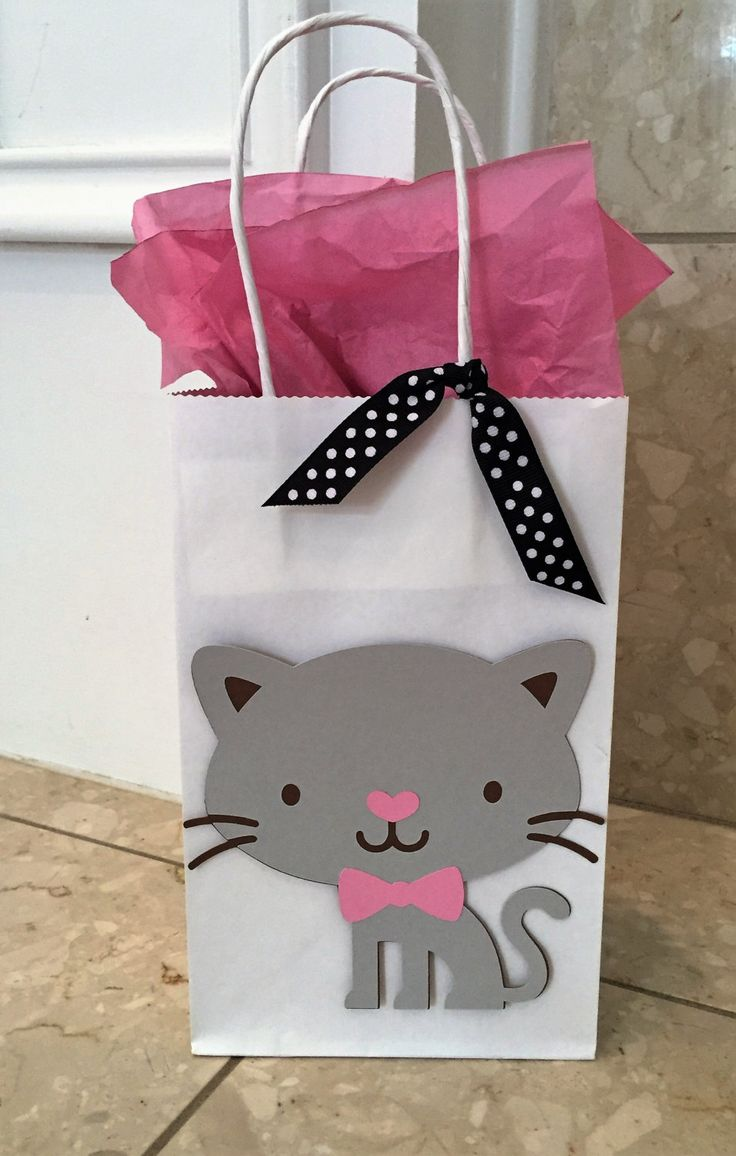 Kitty Cat Party Goodie Bags, Kitty Treat Bags, Cat Birthday Party, Kitty Cat Birthday Party Decorations by HappyPartyShoppe on Etsy