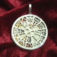 Planetary Exaltation Pendant Genuine Astrology talisman, made at optimal star alignment Jewel's Intention: A powerful talisman using optimal zodiac-star-metal relations to bring the wearer self-development, success, strong ambition & health. Size:	3.0cm/3.0cm - 1.2Inch/1.2Inch Metal:	Solid Sterling Silver 925 Price:	$657 Click on the image to purchase