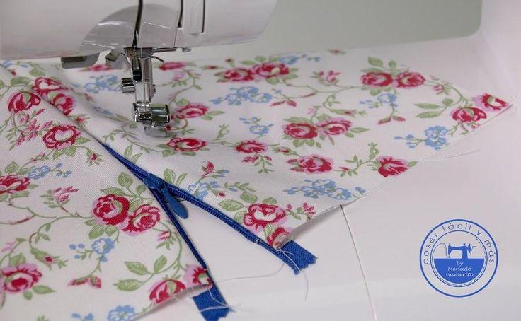 Cómo coser una cremallera, cierre o zípper paso a paso