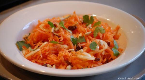 Onze Franse Keuken: Mediterrane wortelsalade