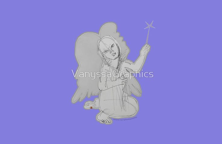 The Fairy Angel  (Original Art Hand Drawing by Alice Iordache) by VanyssaGraphics