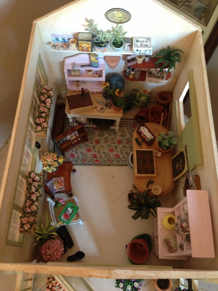 Inside my miniature potting shed miniature potting table for Mini potting shed