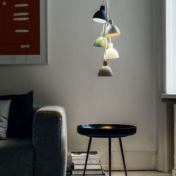Toldbod 120 Duo Pendant, White/Green - Louis Poulsen Lighting A/S - Louis Poulsen - RoyalDesign.com #louispoulsen #toldbod #pendant #lamp #lighting #royaldesign