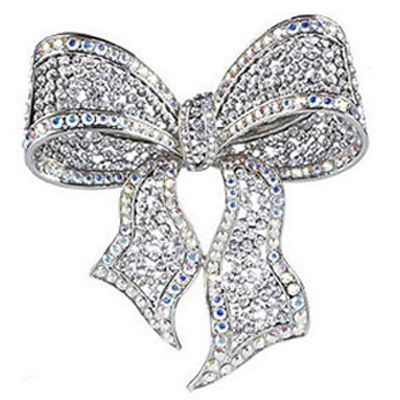 Butler & Wilson Large Crystal Bow Brooch