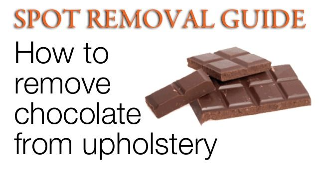 78 Ideas About Removing Chocolate Stains On Pinterest