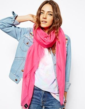ASOS Raw Edge Lightweight Scarf
