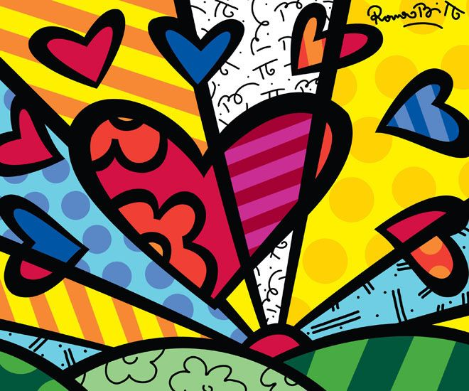 Wow, I love Romero Britto's art! It would be great for decorating  kids room....