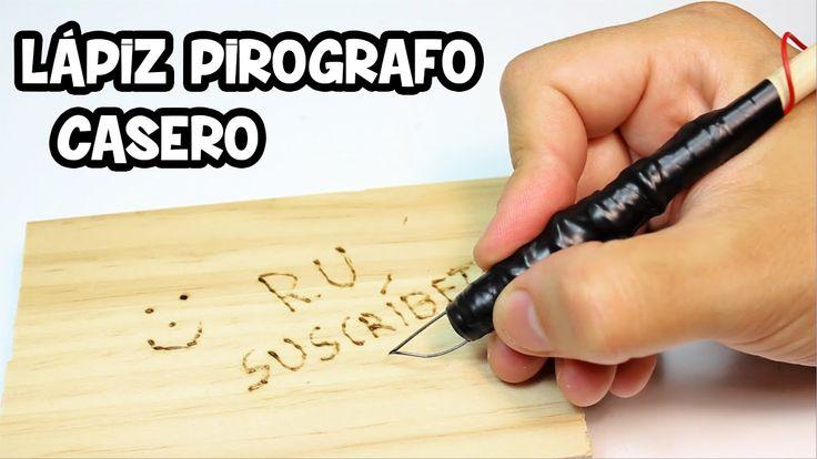 Lápiz Pirografo Casero para Grabar en Madera