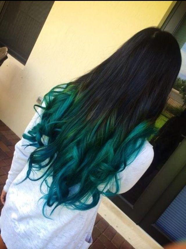 Blue On Black Quot Mermaid Quot Hair Hair Hair Hair Color