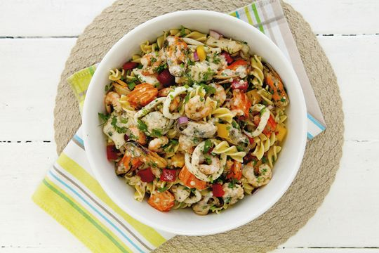 Free seafood pasta salad recipe. Try this free, quick and easy seafood pasta salad recipe from countdown.co.nz.