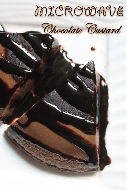 YUMMY TUMMY: Microwave Chocolate Custard Pudding Recipe - Chocolate Custard Recipe