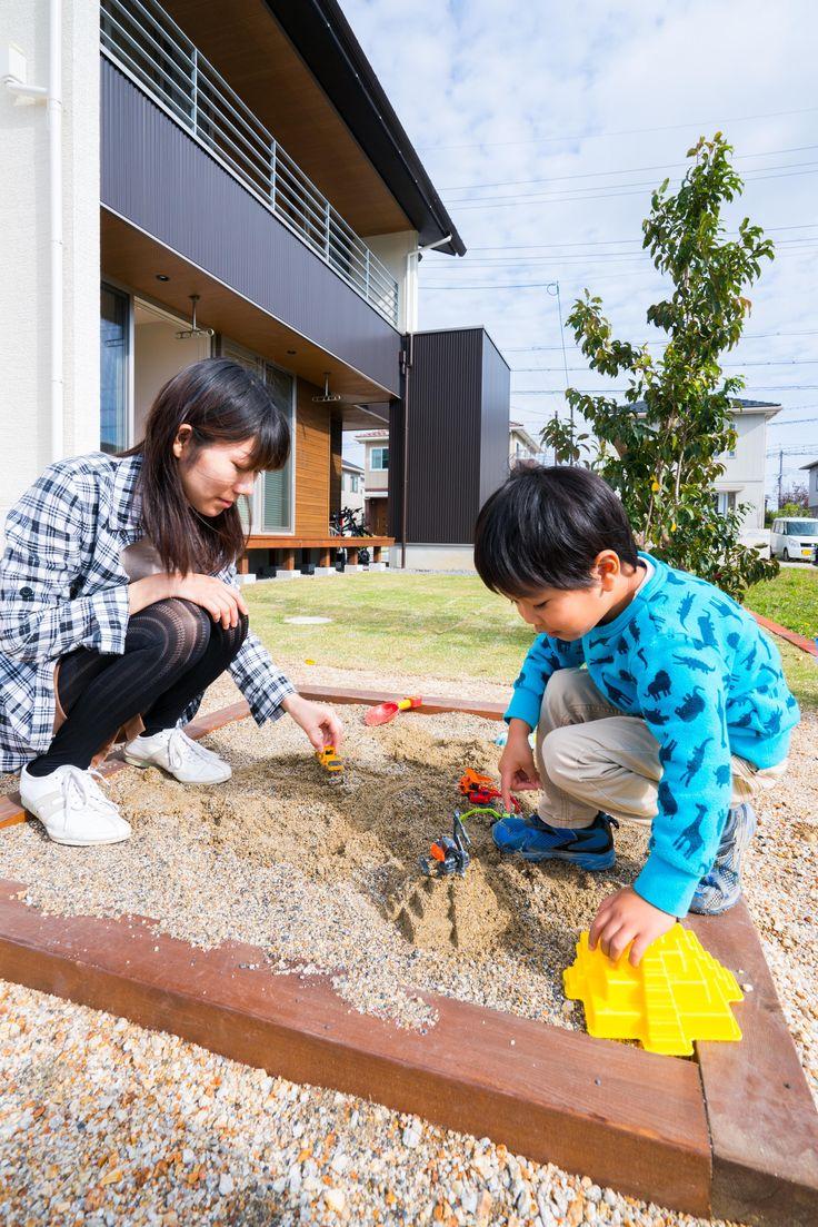 #ルポハウス #設計士とつくる家 #注文住宅 #デザインハウス #自由設計 #マイホーム #家づくり #施工事例 #滋賀 #おしゃれ #庭 #砂場