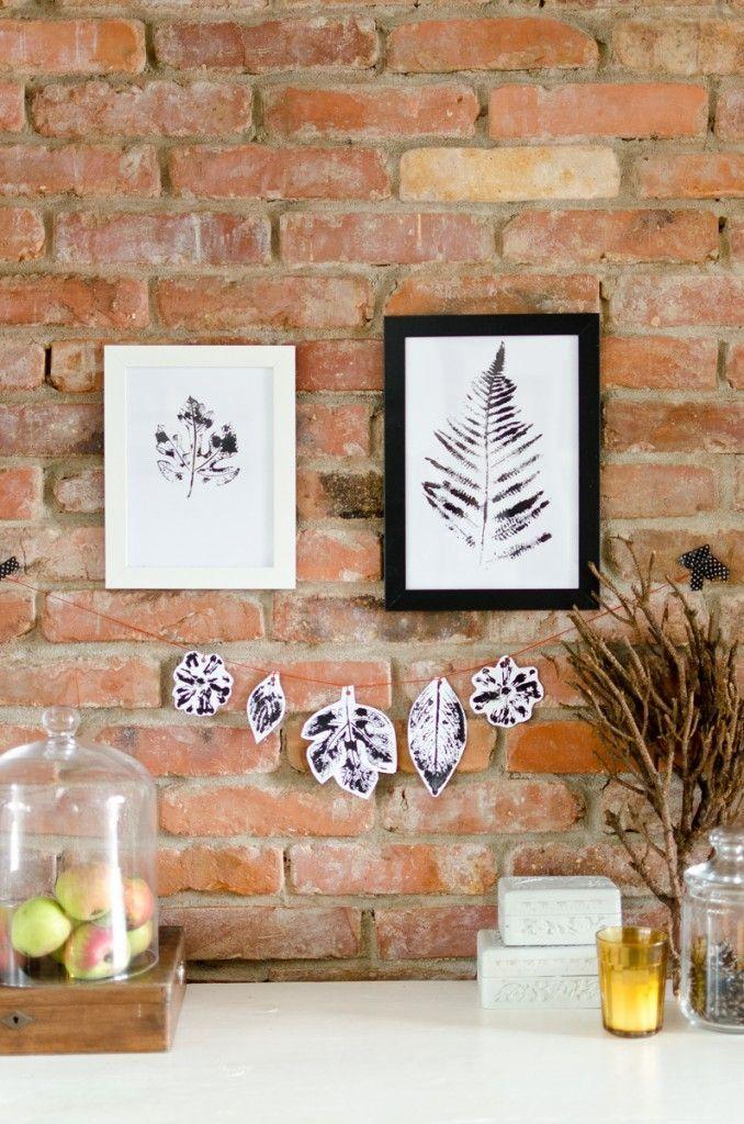 diy Wochenendbastelei: Pflanzendruck Leelah Loves
