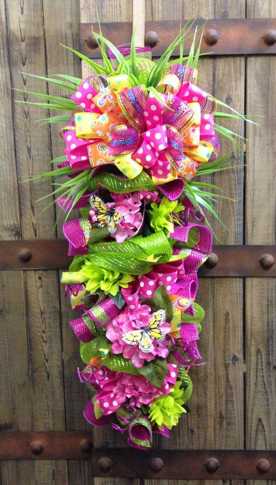 Spring / summer swag by WilliamsFloral on Etsy, $75.00