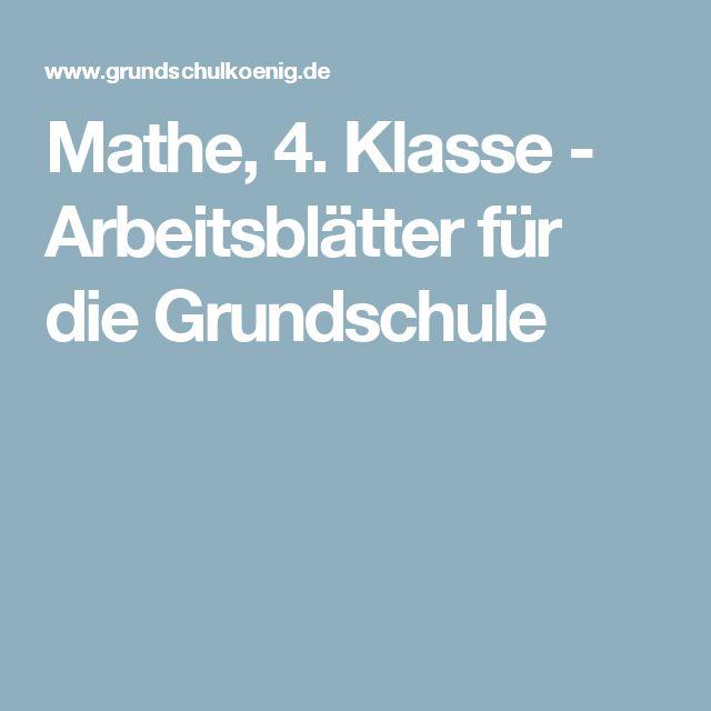 127 besten Mathe 4 Bilder auf Pinterest | Grundschulen ...