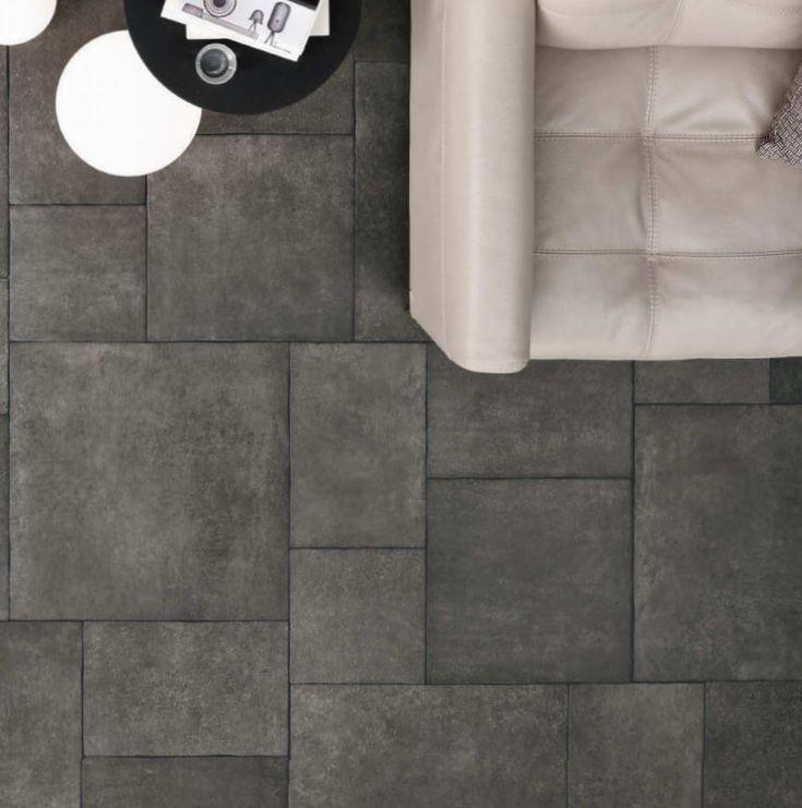 25 beste idee n over grijze tegelvloeren op pinterest tegelvloer keuken witte badkamer en - Grijze verf leisteen ...