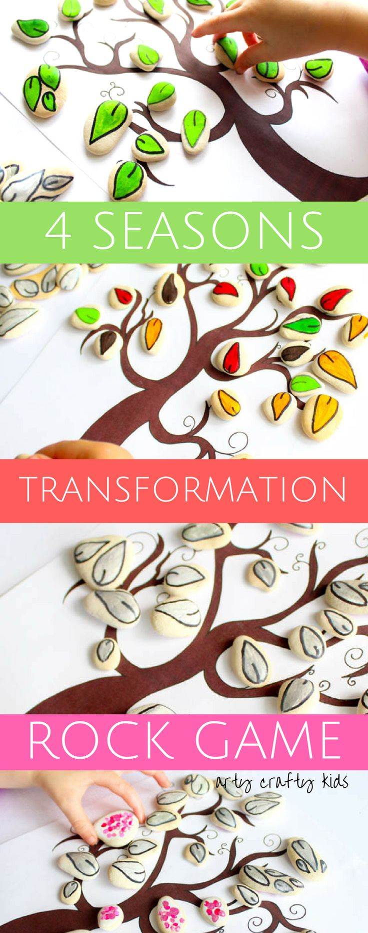 Four Seasons Transformation Rock Game - A hands-on and interactive approach to teaching children about the changing seasons.