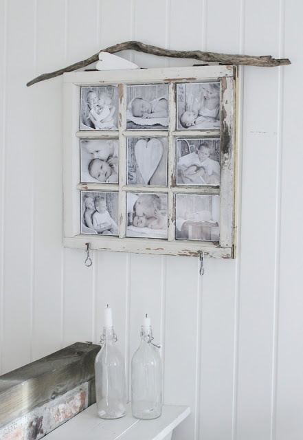Beautiful! Need to find an old window! Put in entry way with hooks for keys/hats
