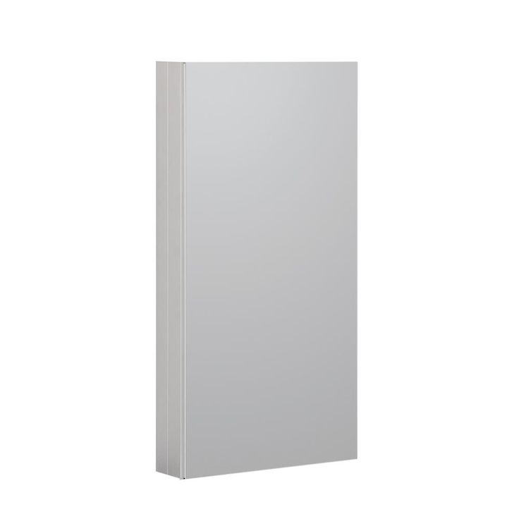 Foremost Reflections 15 in. W x 36 in. H Recessed or Surface Mount Medicine Cabinet in Satin Nickel