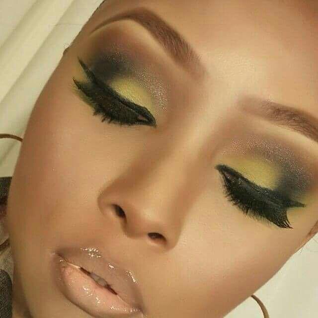 yellow lipstick on dark skin - photo #12