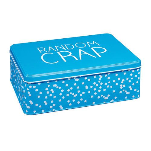 The Kitchen Gift Co - Happy Jackson Kitchen Storage Tin - Random Crap Design, £10.49