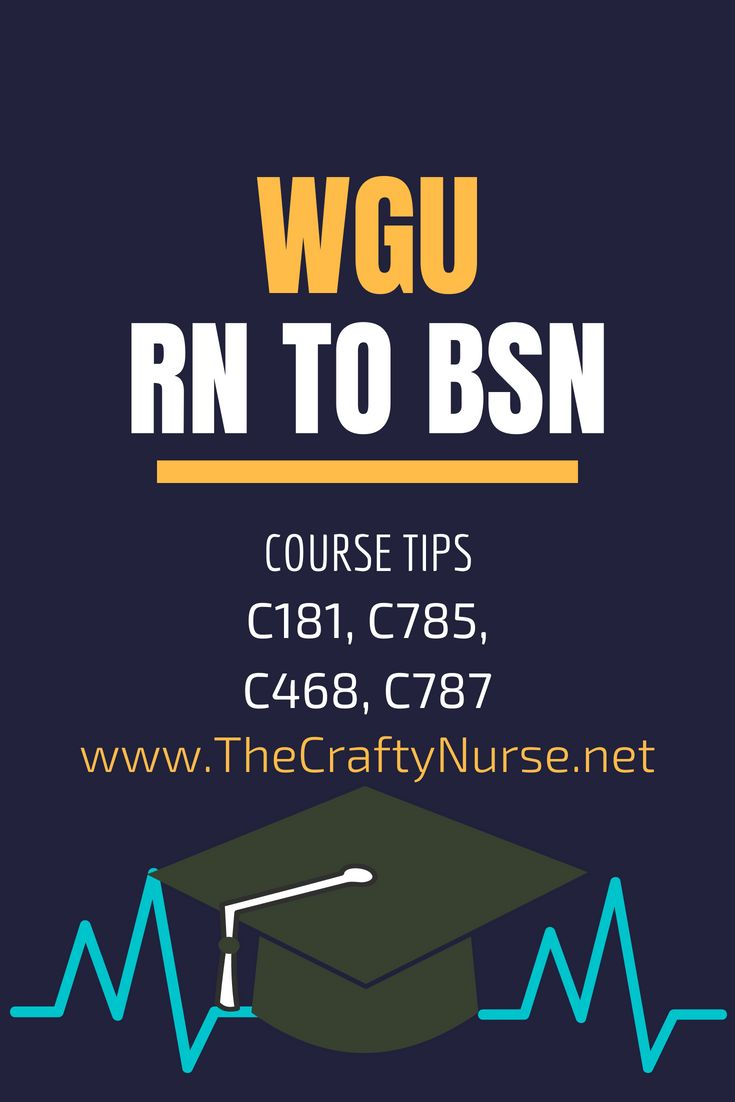 To the 2nd part of my wgu rn to bsn course