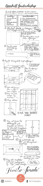 I HUSETs aller første romkonkurranse - husets entre - bygde vi et plass bygget klesskap. Altså - ...