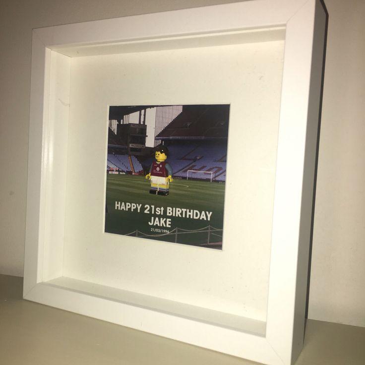 items similar to lego personalised handmade minifigure football frame on etsy - Etsy Frames