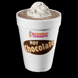 Dukin Donuts Hot Chocolate. Yummo!