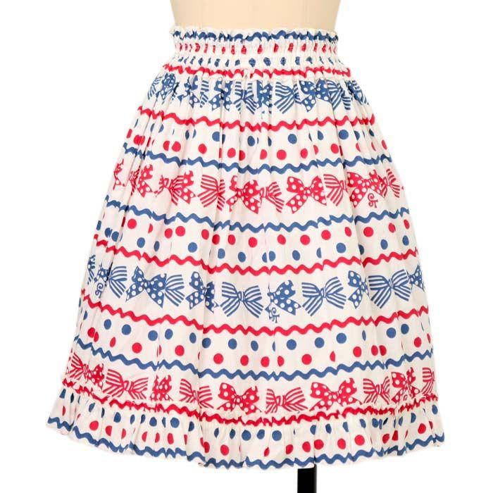 ドットリボンスカート ロリィタファッションshirly Temple   シャーリーテンプル ロリータ ゴスロリ服・古着の通販はワンダーウェルト