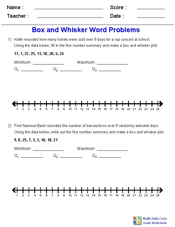 box and whisker plots word problems worksheets school. Black Bedroom Furniture Sets. Home Design Ideas