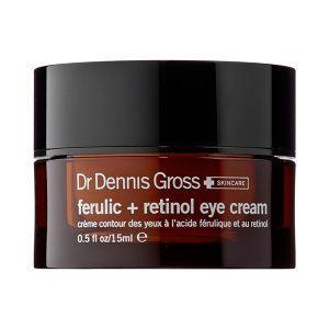 NEW! Dr. Dennis Gross Skincare - Ferulic + Retinol Eye Cream #sephora $68.00 The first signs of aging appear around the delicate eye area. Maintain youthful-looking skin with this powerful eye cream, featuring GABA to reduce the appearance of fine lines and wrinkles and ferulic and retinol to retexturize and firm. Skin is left smooth, hydrated, and protected.