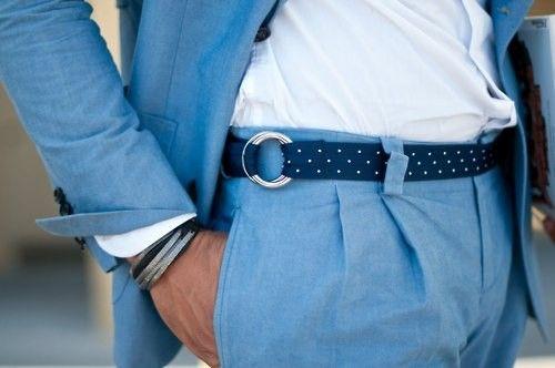 Belts Buckles, Polka Dots, Blue Suits, Men Style, Men Fashion, Men Suits, Gentleman Style, Girls Style, Style Blog