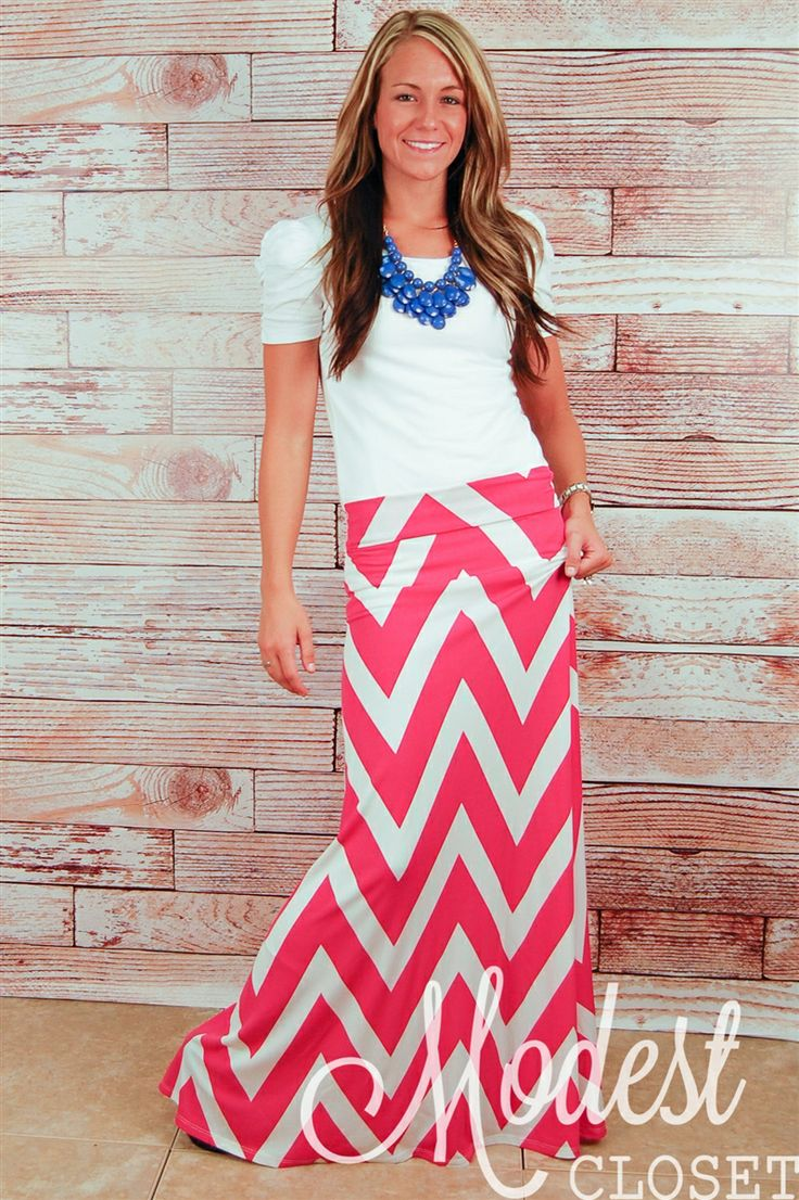 Emma chevron maxi skirt cute outfits pinterest for Cute shirts for maxi skirts