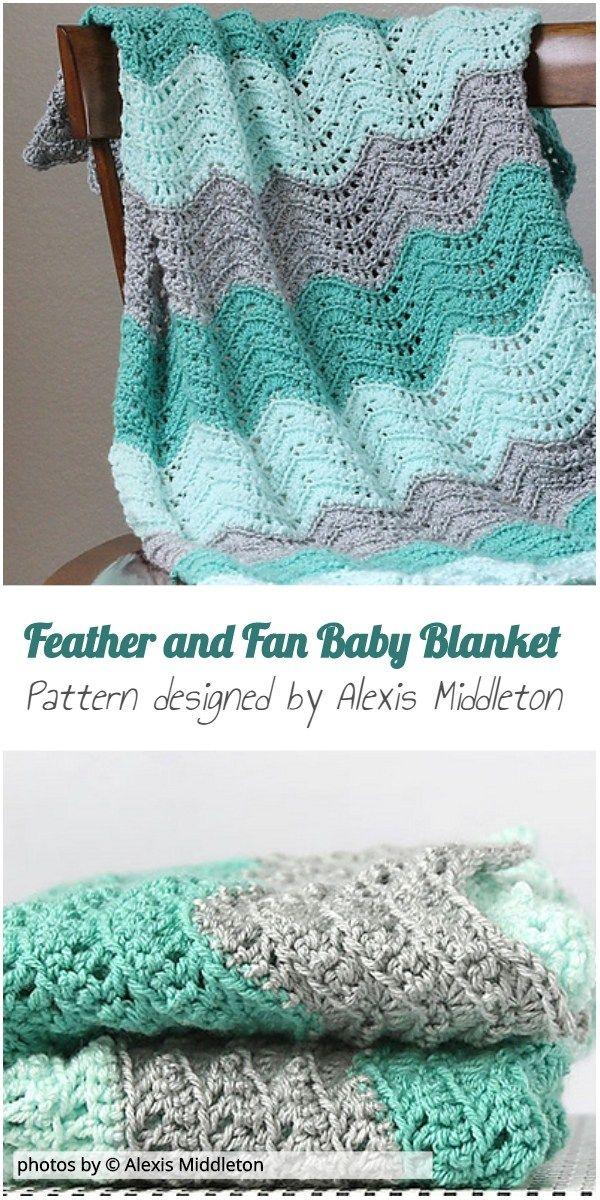 Feather And Fan Baby Blanket Crochet Pattern Idea