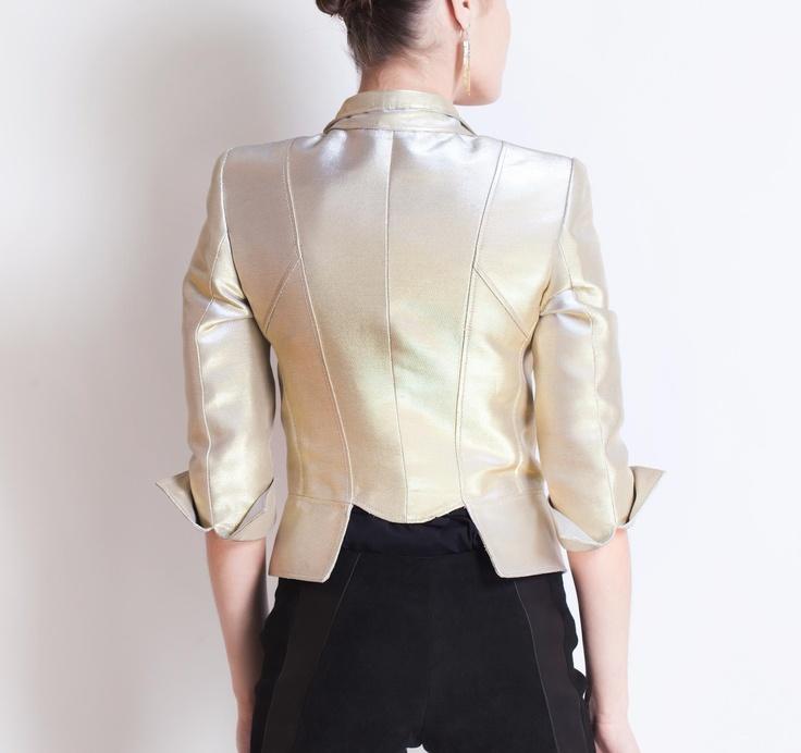 Octavio Pizzarro SS2013 Gold Jacket #ModeWalk #luxury #fashion #OctavioPizzarro #jacket #gold
