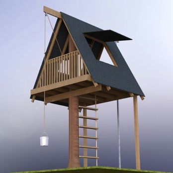 A-Frame Tree House Woodworking Plan by Tobacco Road Guitars