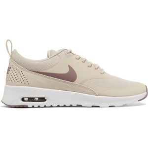 Nike Air Max Thea rubber, stretch-mesh and croc-effect leather sneakers