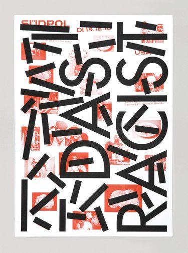 poster. deconstruction. experimental