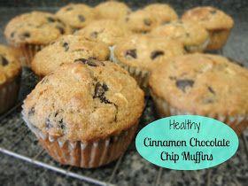 Little Miss Kimberly Ann: Healthy Cinnamon Chocolate Chip Muffins