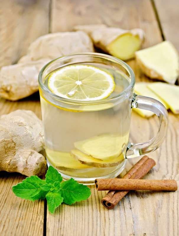 tè allo zenzero per la preparazione di perdita di peso