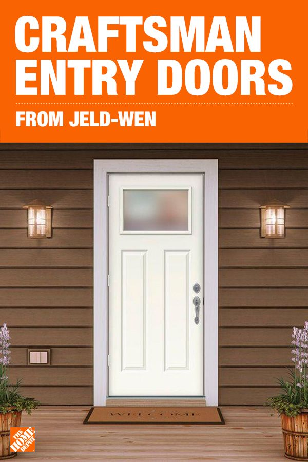Maximize your home's value and style with a contemporary entry door. The new JELD-WEN Craftsman Steel Entry Doors are not only strong and secure, they're easy to install and easy to maintain. Click to shop these energy-efficient, prehung doors.