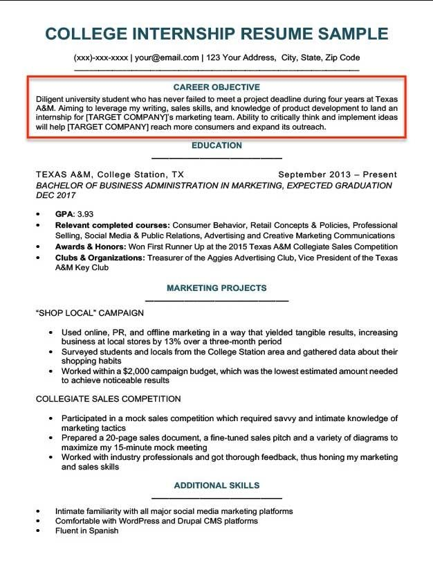 Resume Objective Examples For Students And Professionals Rc Riwayat Hidup Proposal Surat