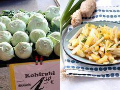 Recept voor een makkelijk bijgerecht met koolrabi, ananas en bosui. Een verfrissende salade die je bijvoorbeeld naast een curry of rijstgerecht eet!