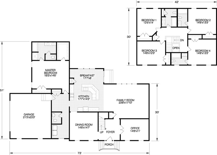 8 best two story home floorplans images on pinterest for How big is a two car garage square feet