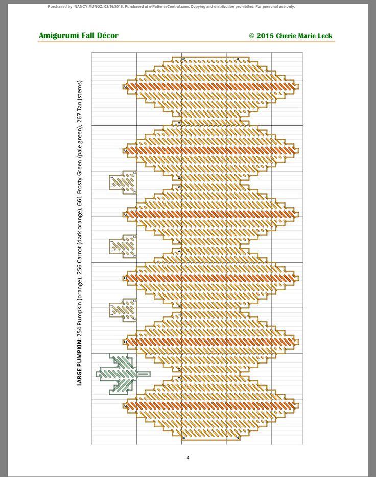 AMIGURUMI FALL DECOR by CHERIE MARIE LECK 4/5