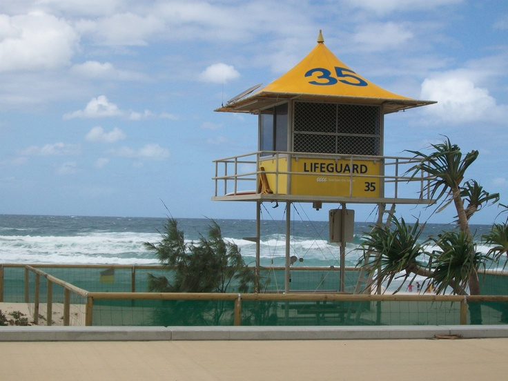 Our apartment was in front of lifeguard number 35