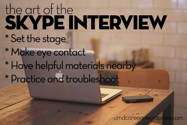 The Art of the Skype Interview